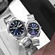 SEIKO 精工 簡約時尚 日期 不鏽鋼手錶 情人對錶-藍色/40mm+36mm product thumbnail 1