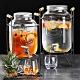 Homely Zakka享樂食光大容量浮雕玻璃桶調酒/飲料桶(經典圖標款4L)贈鐵桶飲料架 product thumbnail 1