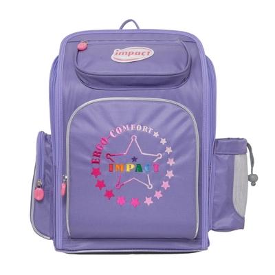 【IMPACT】怡寶新一代標準型輕量護脊書包-彩虹Star#粉紫 IM00702PL