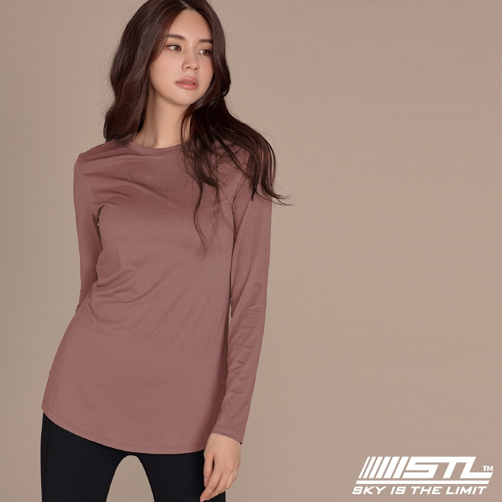 STL yoga ESSENCE LS 韓國瑜珈 運動機能 本質長版 合身蓋臀長袖上衣 乾燥玫瑰