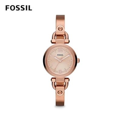 FOSSIL GEORGIA 迷你女錶-玫瑰金 約26mm ES3268