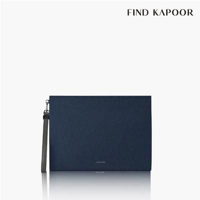 【FIND KAPOOR】CLUTCH 32 十字壓紋系列手拿包- 海軍藍