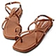 D+AF 夏日氣息.層次感交叉套指涼鞋*棕 product thumbnail 1