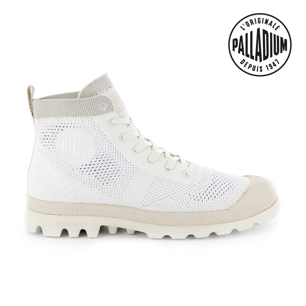 PALLADIUM PAMPA HI LITE K輕量針織靴-女-白