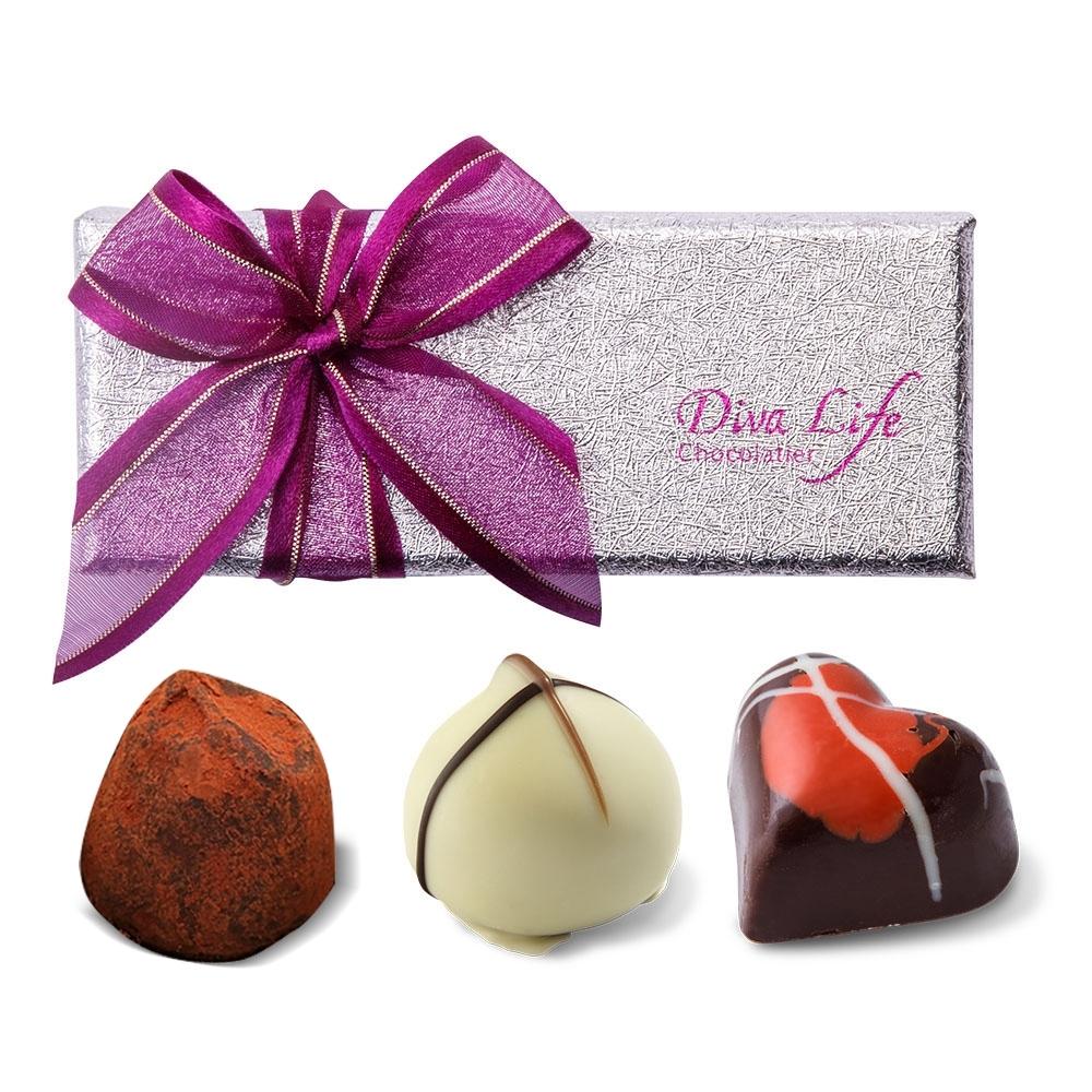 Diva Life 比利時松露巧克力3入(經典禮盒)