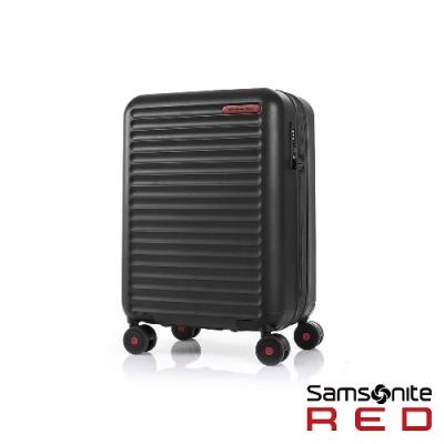 Samsonite RED 20吋Toiis C 極簡線條可擴充PC硬殼登機箱(黑)