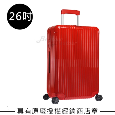 Rimowa Essential Check-In M 26吋行李箱(亮紅色)