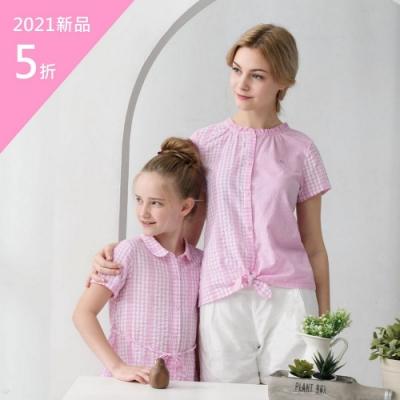 PIPPY夢幻格子拼布襯衫-粉
