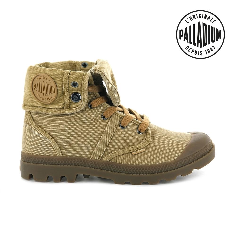 Palladium PALLABROUSE BAGGY帆布靴-男-肉桂黃