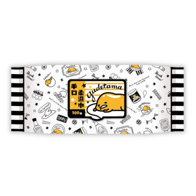Sanrio 三麗鷗 蛋黃哥 手口加蓋濕紙巾 100抽X24包/箱