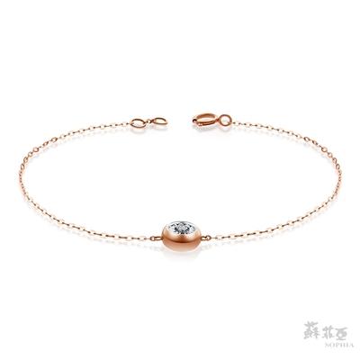 蘇菲亞 SOPHIA - 永恆之戀玫瑰金鑽石手鍊