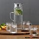 義大利BLACK HAMMER 極簡耐熱玻璃水壺組-1200ml(一壺四杯) product thumbnail 1