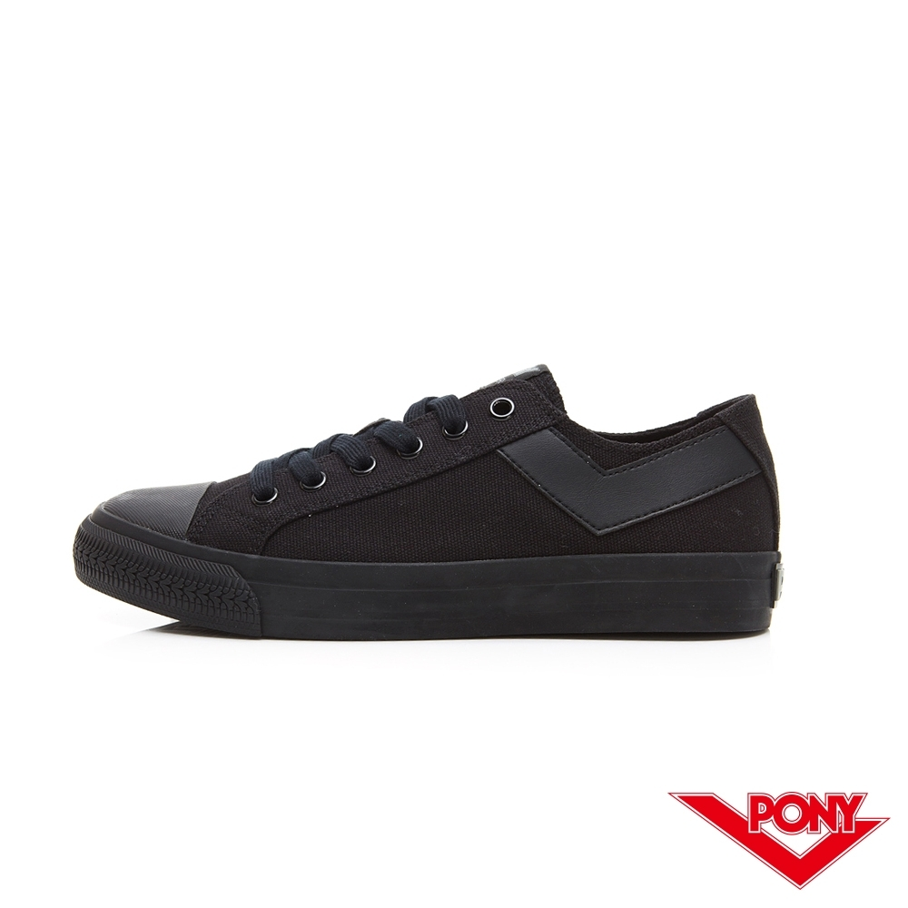 【PONY】Shooter系列百搭復古經典帆布鞋 休閒鞋 情侶鞋 女鞋 黑色