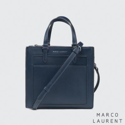 MARCO LAURENT Frame 造型拉鍊手提肩背包 - 深藍