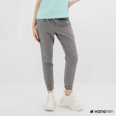 Hang Ten-女裝-恆溫多功能-REGULAR FIT標準四向彈力吸濕快乾抗曬運動長褲-灰色
