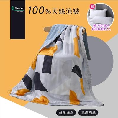 (買就送枕套)岱思夢 台灣製 天絲涼被 100%天絲萊賽爾 4x5尺 空調被 冷氣被 多款任選