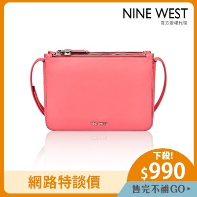 NINE WEST PROSPER雙層拉鍊小方包-螢光粉(503969)