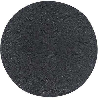 NOW 網紋圓餐墊(黑)