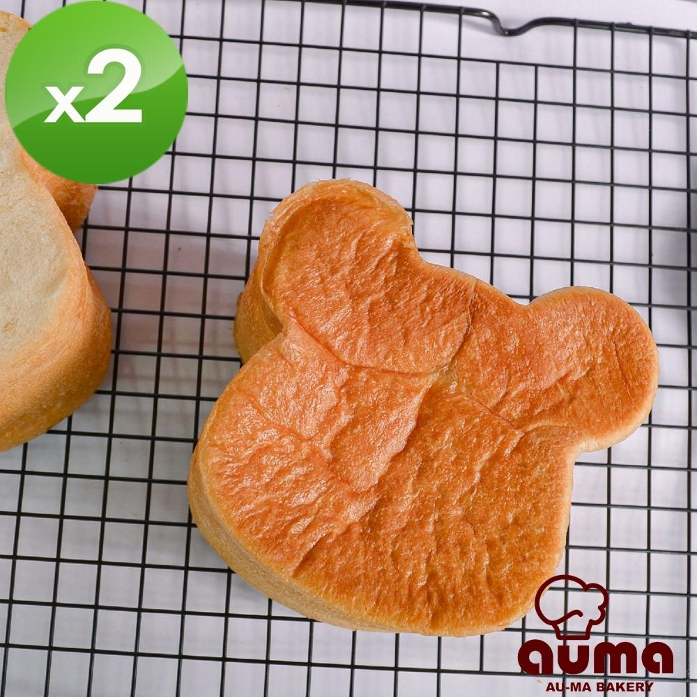奧瑪烘焙 熊熊生吐司(340g±3%/個)x2條