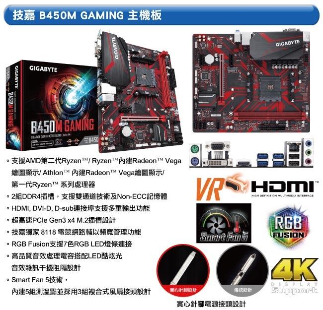 技嘉B450平台[煉金天將]R5六核RTX2080S獨顯電玩機