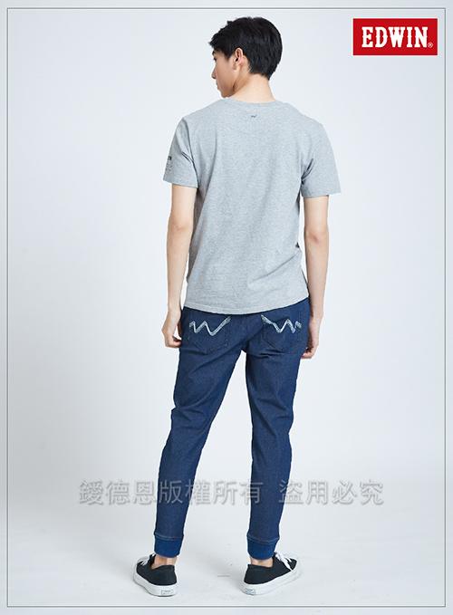 EDWIN 東京系列BASIC POCKET短袖T恤-男-麻灰