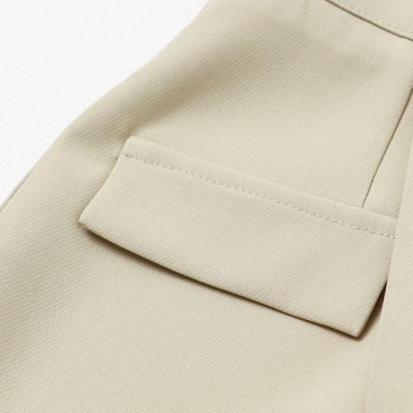 鈕釦造型假口袋不對稱A字褲裙-OB大尺碼