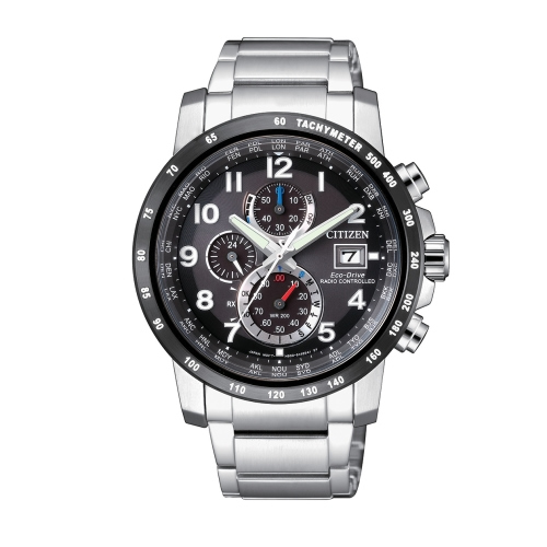 CITIZEN 準確時刻電波時計光動能錶/AT8124-83E