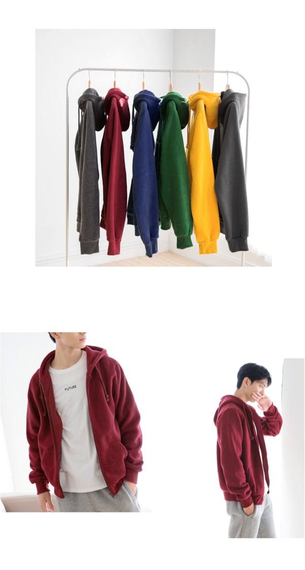 溫暖內磨毛拉鍊連帽外套‧男12色-OB大尺碼