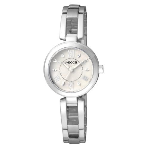 CITIZEN wicca甜美風格手鐲腕錶/白
