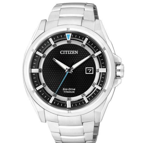 CITIZEN Eco-Drive 超級鈦光動能日期腕錶-AW1401-50E
