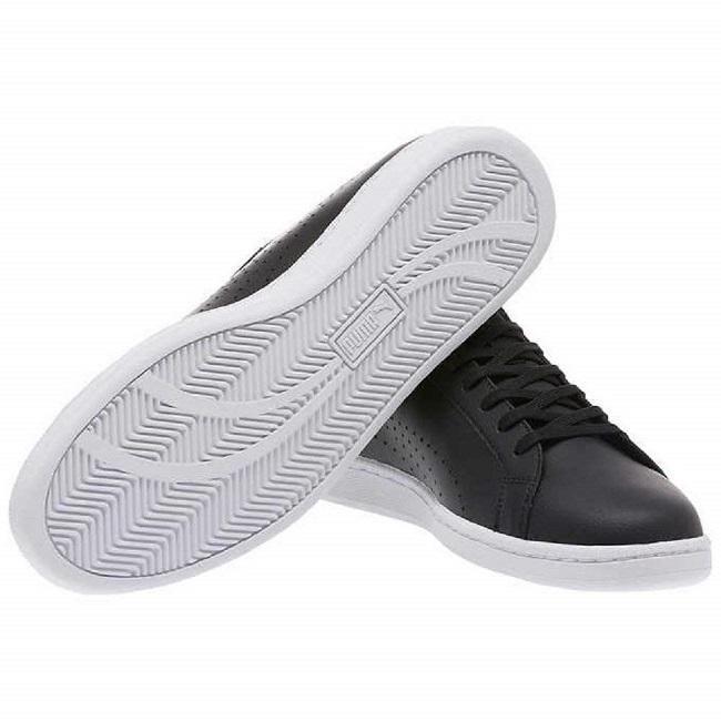 PUMA-Smash Perf C男性復古網球運動鞋-黑