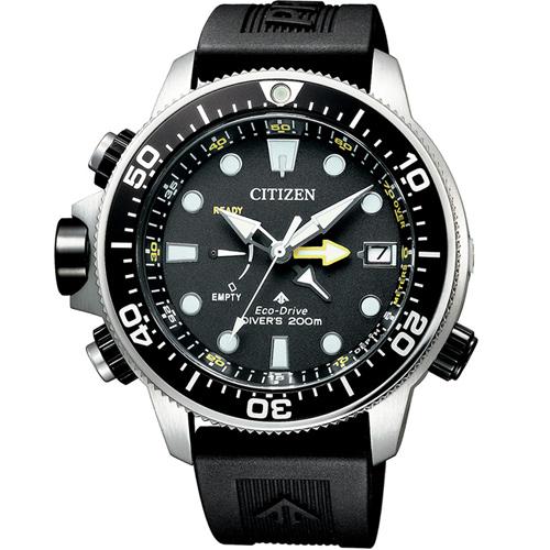 (無卡分期6期)CITIZEN星辰PROMASTER極限深海光動能潛水錶(BN2036-14E)