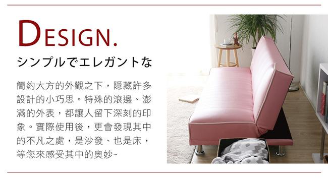 H&D 貝思厚實亮麗沙發床-2色