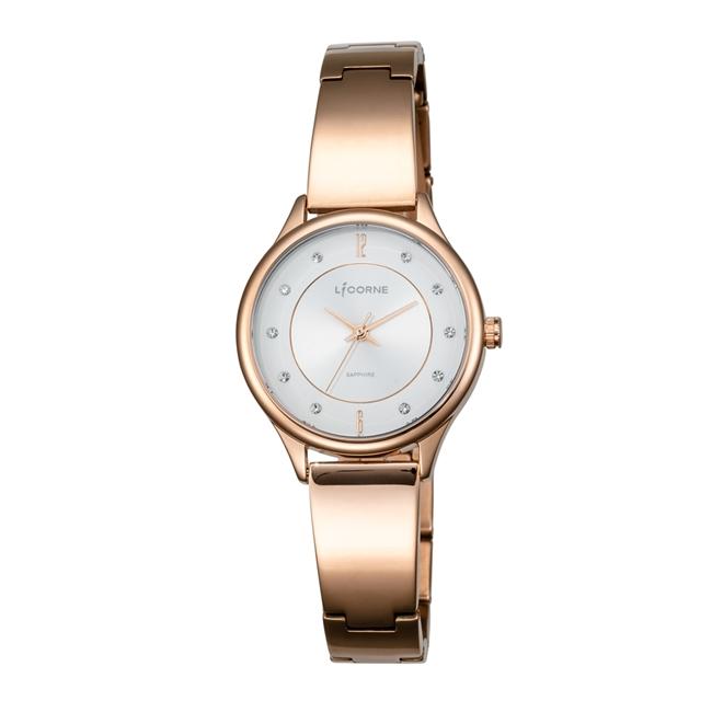 LICORNE 力抗錶 都會女伶時尚女錶-玫瑰金x銀白面/31mm