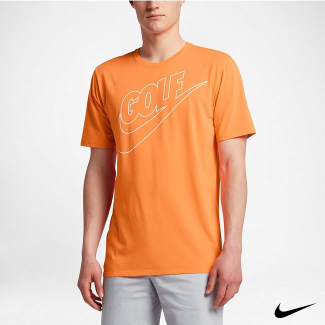 NIKE GOLF 短袖 圓領 排汗 T恤 橘 839867-867