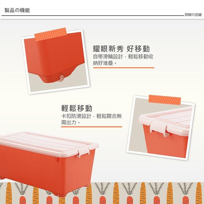 日本JEJ for.c vivid繽紛整理箱 深74 三色可選