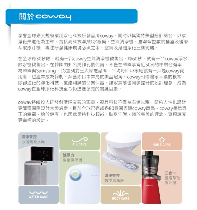 Coway 11-15坪 加護抗敏型空氣清淨機 AP-1009CH