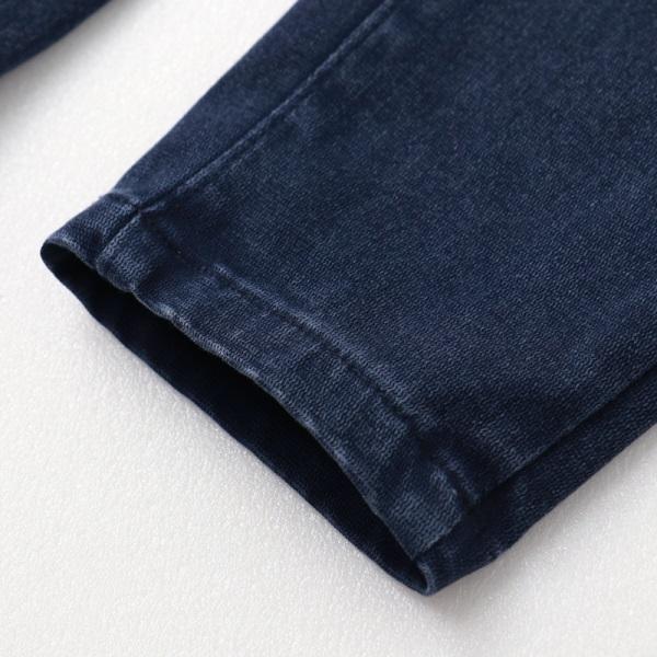 腰鬆緊高彈修身窄管牛仔褲-OB大尺碼