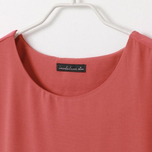 純色透紗異材拼接袖開衩雪紡長洋裝-OB大尺碼