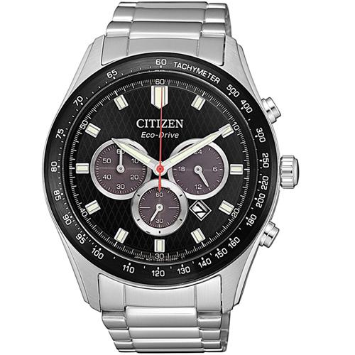(無卡分期6期)CITIZEN星辰時刻捕手光動能計時錶(CA4454-89E)-黑