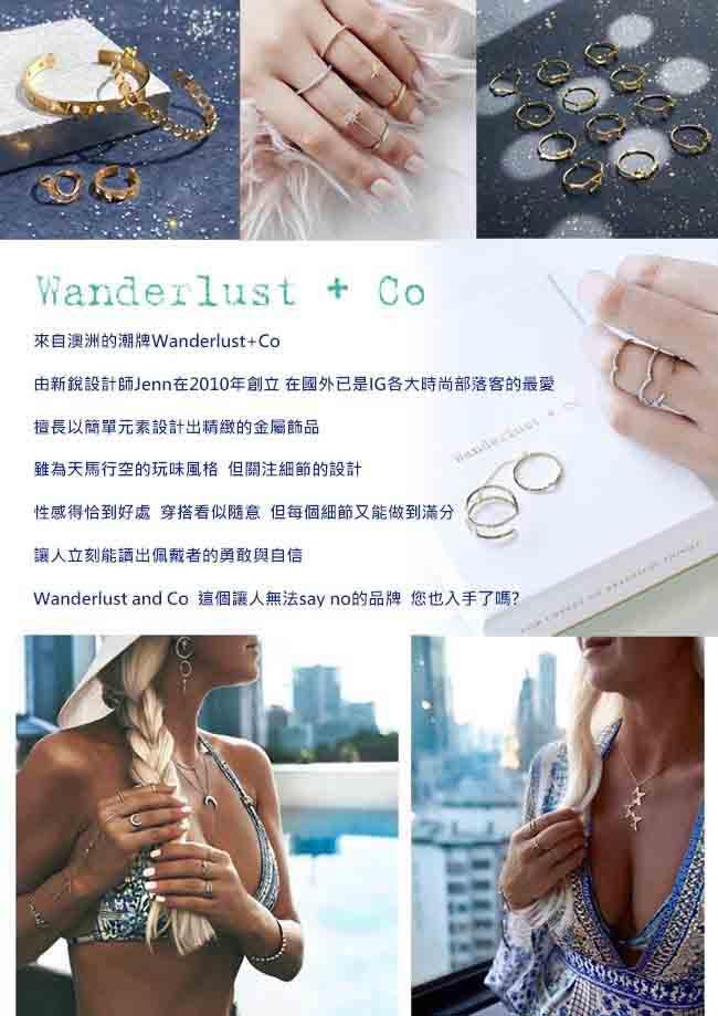 Wanderlust+Co 澳洲品牌 雙魚座手鍊 金色鑲鑽手鍊 PISCES