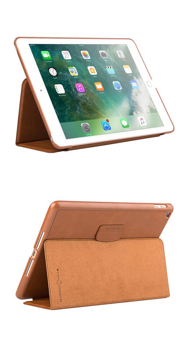 G-CASE 古洛特系列 iPad 9.7吋二折立架側掀皮套