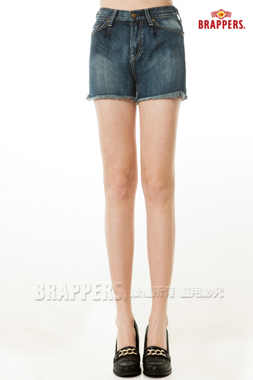 BRAPPERS 女款 Boy Firend Ballon系列-高腰短褲-深藍