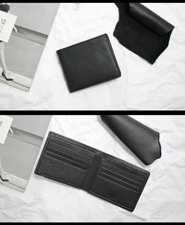Continuita 康緹尼 頭層牛皮超手感8卡雙層紳士男夾短夾(黑)
