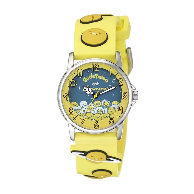 Gudetama 蛋黃哥 五週年紀念手錶 黃/32mm