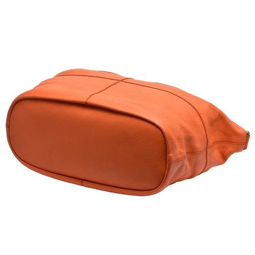 GIVENCHY NIGHTINGALE系列山羊皮手提/肩背兩用包(中-橘)