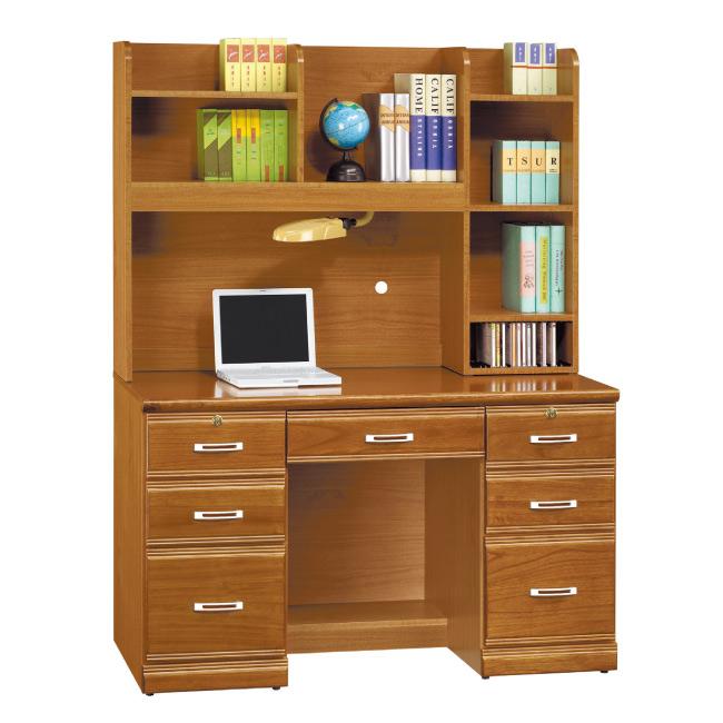 AS-凱特實木4.2尺書桌-126x58.5x165cm