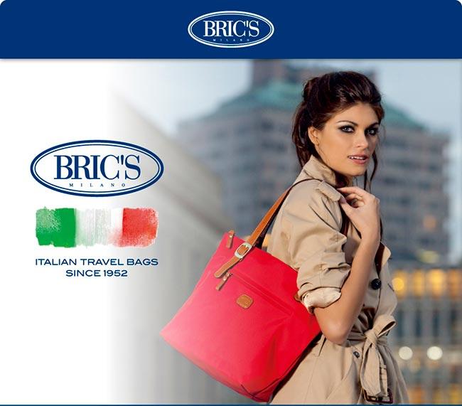 BRICS 義大利 防潑水 女仕包兼旅行袋 中