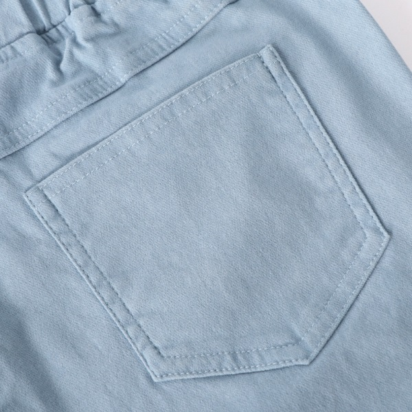 彈性刷色窄管長褲-OB嚴選