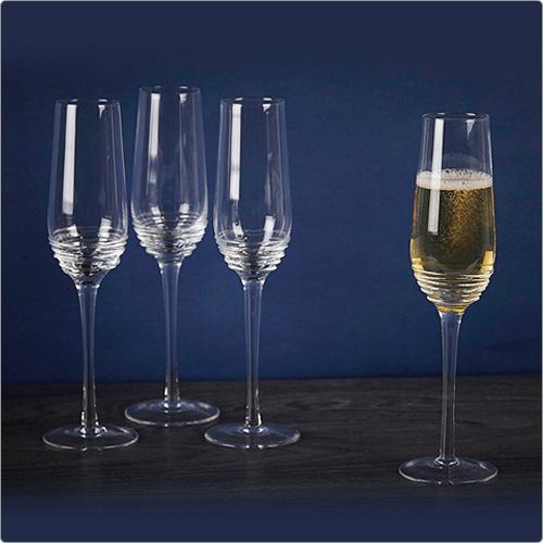 CreativeTops Mikasa漣漪香檳杯4入(230ml)